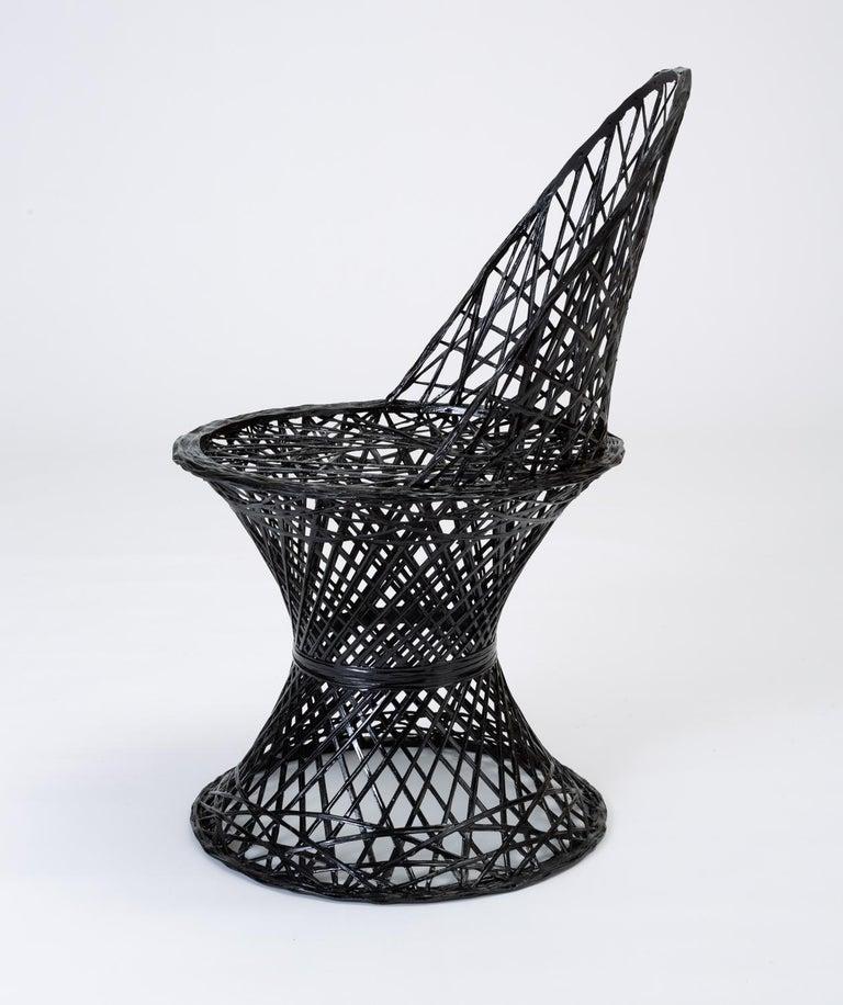 American Single Woodard Spun Fiberglass Patio Dining Side Chair For Sale