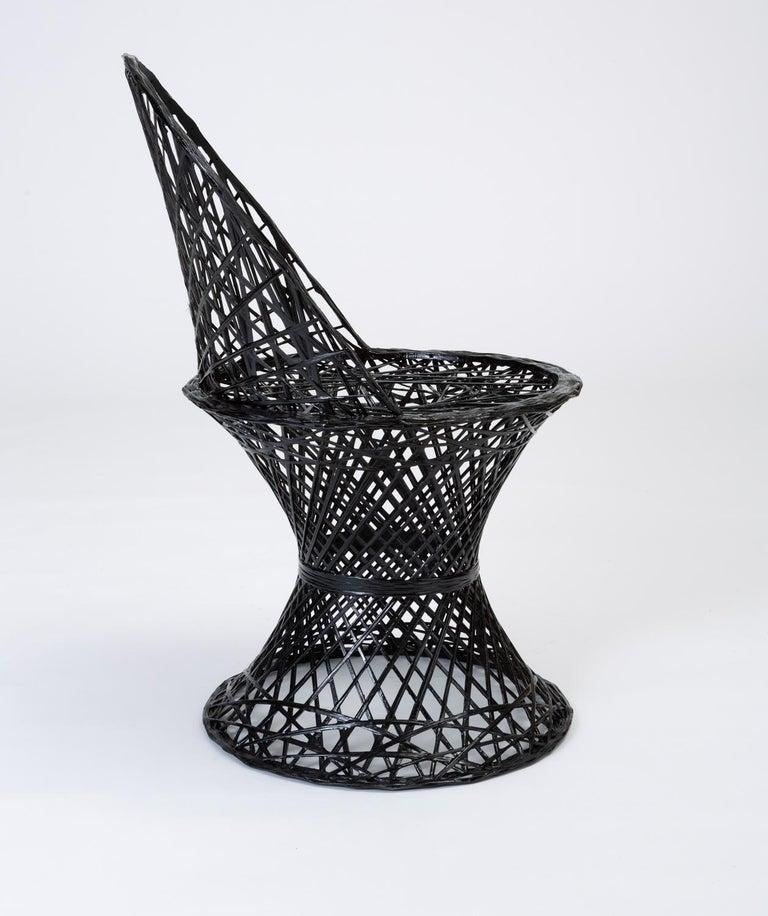 20th Century Single Woodard Spun Fiberglass Patio Dining Side Chair For Sale