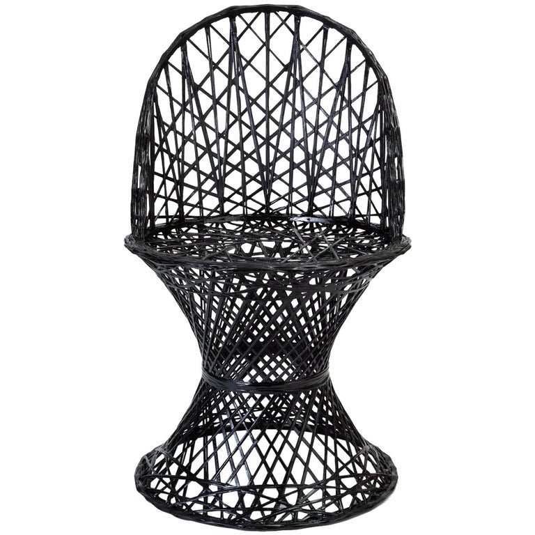 Single Woodard Spun Fiberglass Patio Dining Side Chair For Sale