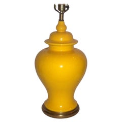 Single Yellow Porcelain Table Lamp