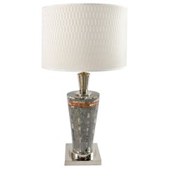 Laudarte Srl of Italy Table Lamp in Marble and Mother-Of Pearl