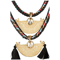 Sinu Tier Gold and Tassel Necklace