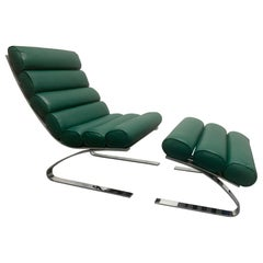 Sinus Lounge Chair and Ottoman by Reinhold Adolf & Hans-Jurgen Schropfer for COR