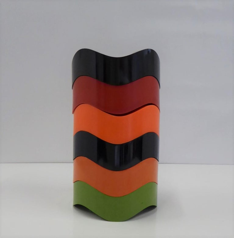 Mid-Century Modern Sinus Stackable Ashtray Group of by Walter Zeischegg for Helit of Germany, 1966 For Sale