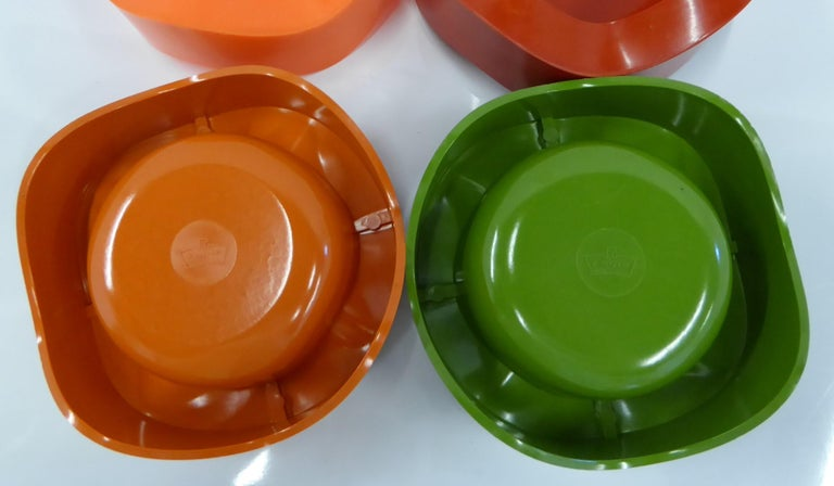 Plastic Sinus Stackable Ashtray Group of by Walter Zeischegg for Helit of Germany, 1966 For Sale