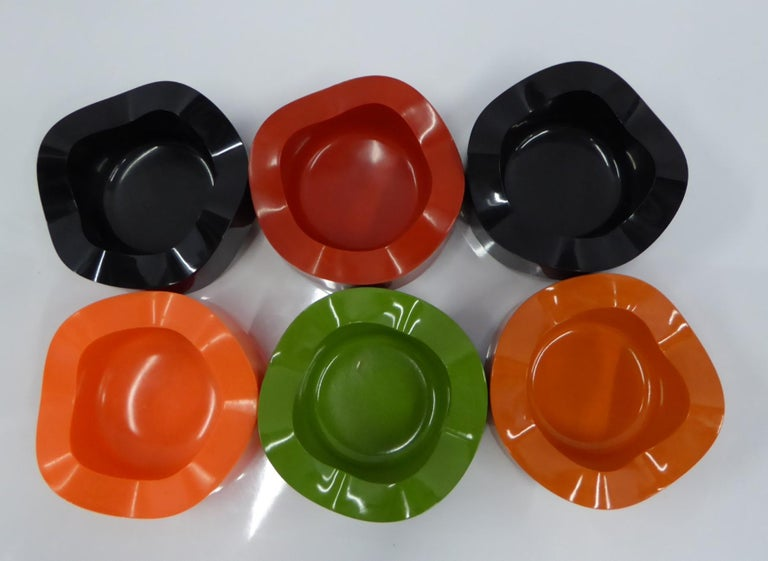 Sinus Stackable Ashtray Group of by Walter Zeischegg for Helit of Germany, 1966 For Sale 3