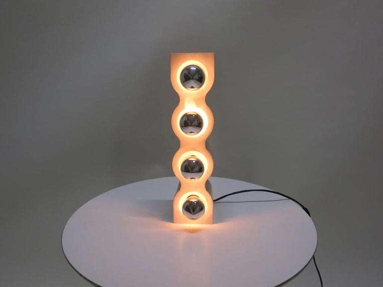 Late 20th Century Sinus Table Lamp by Ettore Sottsass for Stilnovo, Italy 1970s For Sale