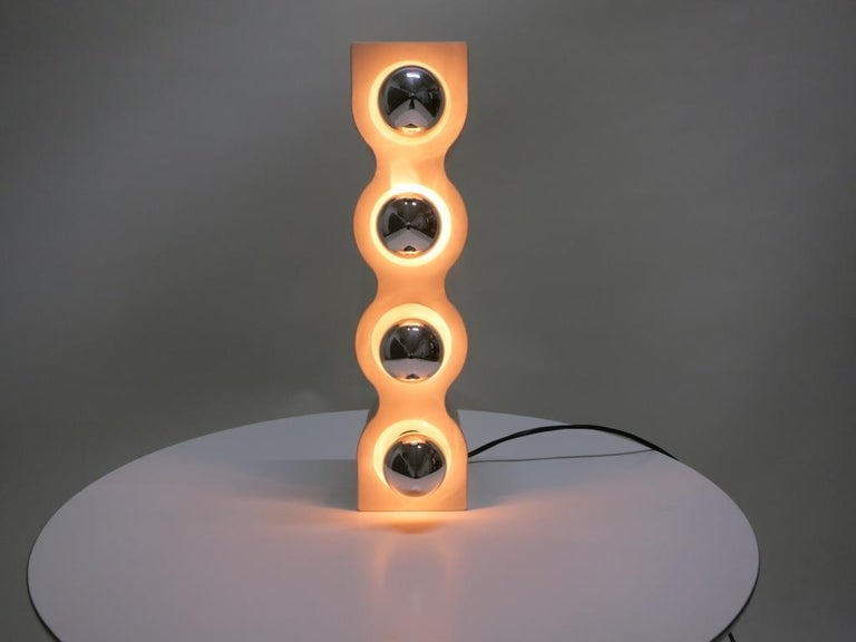 Plastic Sinus Table Lamp by Ettore Sottsass for Stilnovo, Italy 1970s For Sale