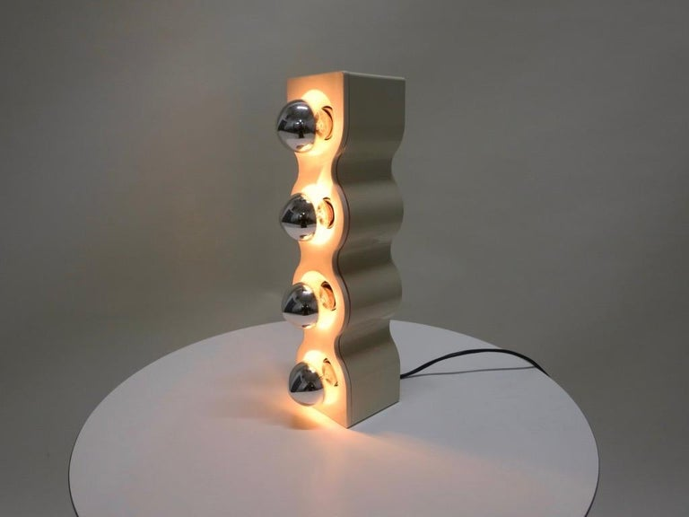Sinus Table Lamp by Ettore Sottsass for Stilnovo, Italy 1970s For Sale 1