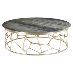 Sioraf Center Table with Marble Top and Metal Base by Roberto Cavalli