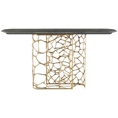 Sioraf Console with Marble Top by Roberto Cavalli Home Interiors