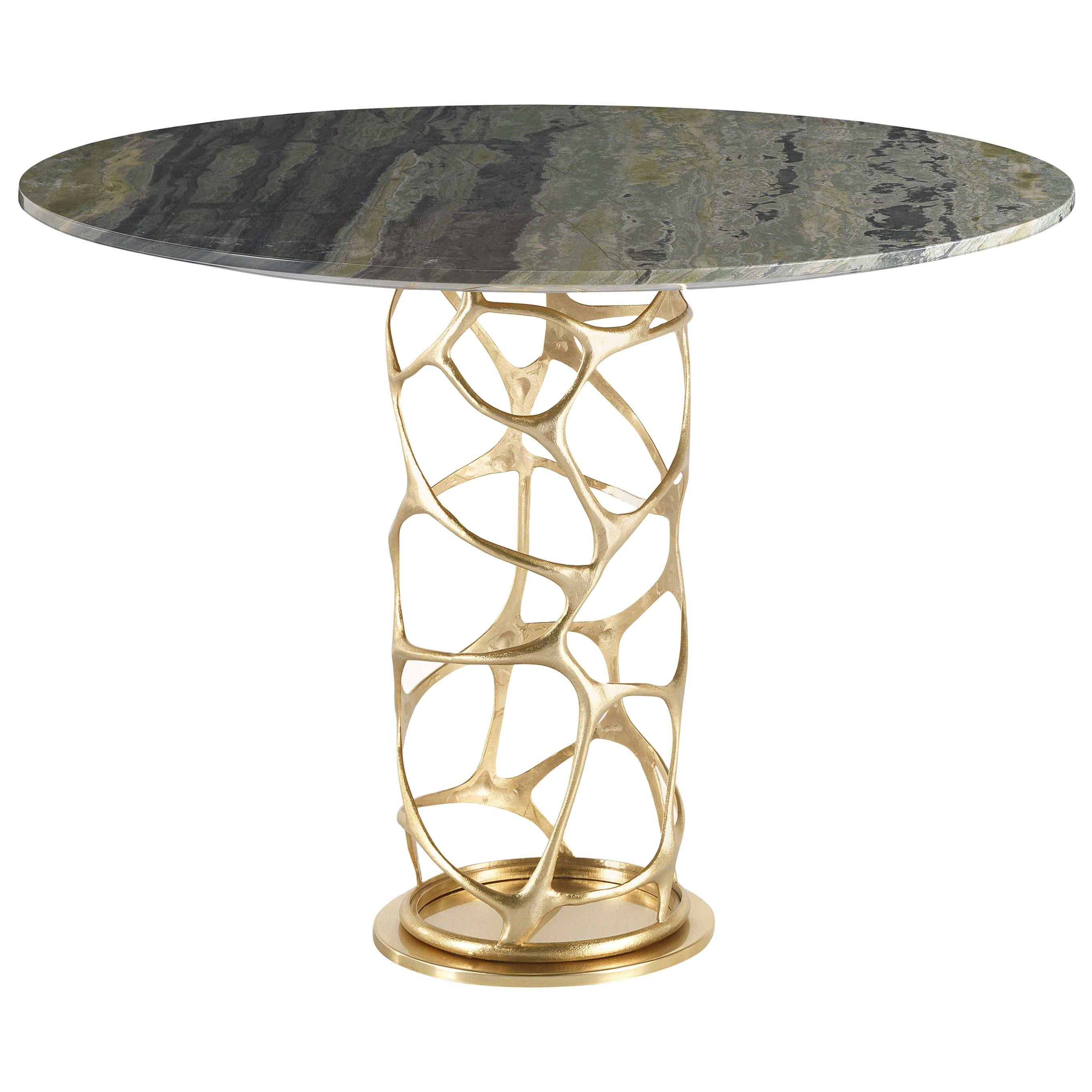 Sioraf Side Table in Metal Base and Marble Top by Roberto Cavalli Home Interiors