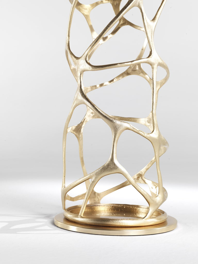 Modern Sioraf Side Table with Metal Base by Roberto Cavalli Home Interiors For Sale