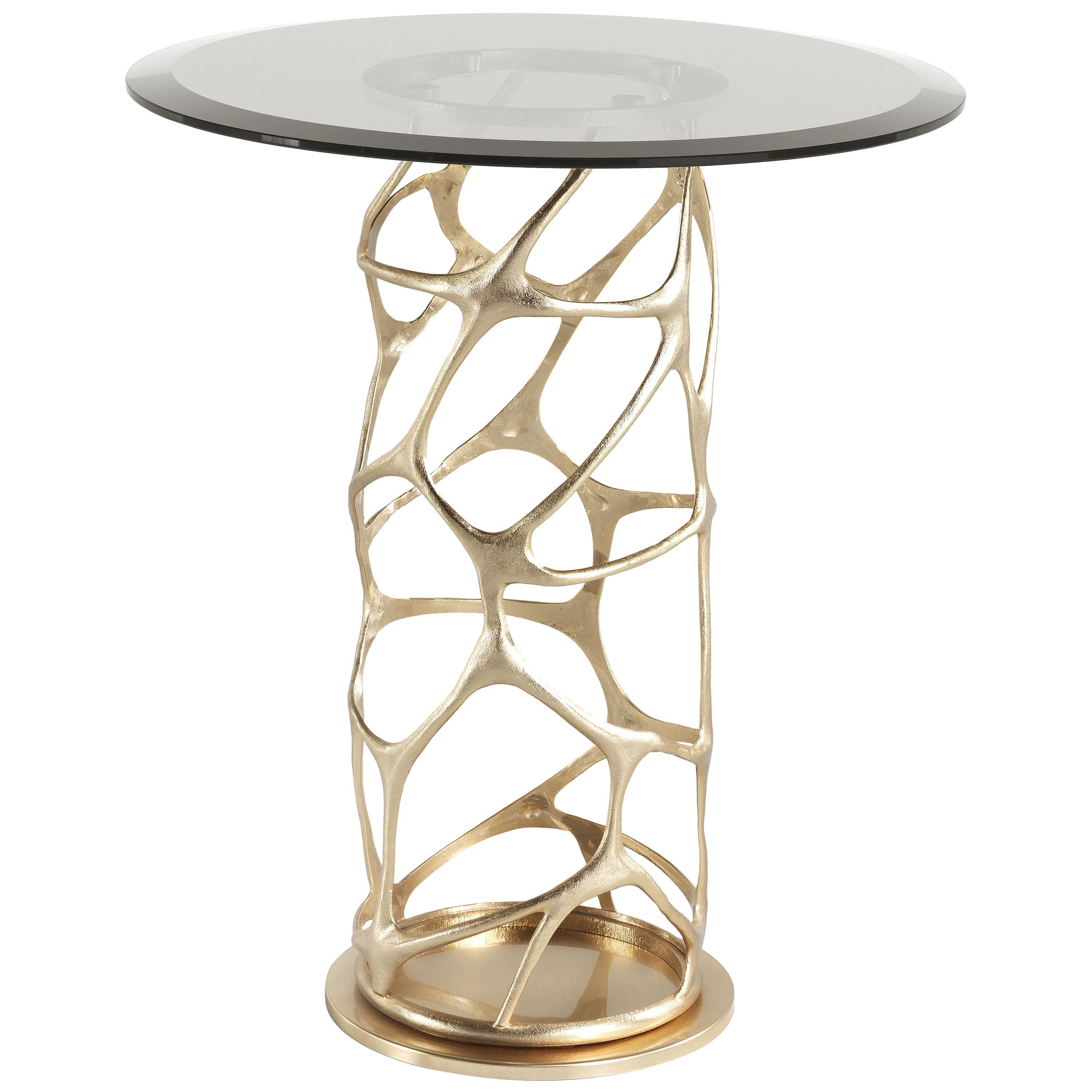 Sioraf Side Table with Metal Base by Roberto Cavalli Home Interiors