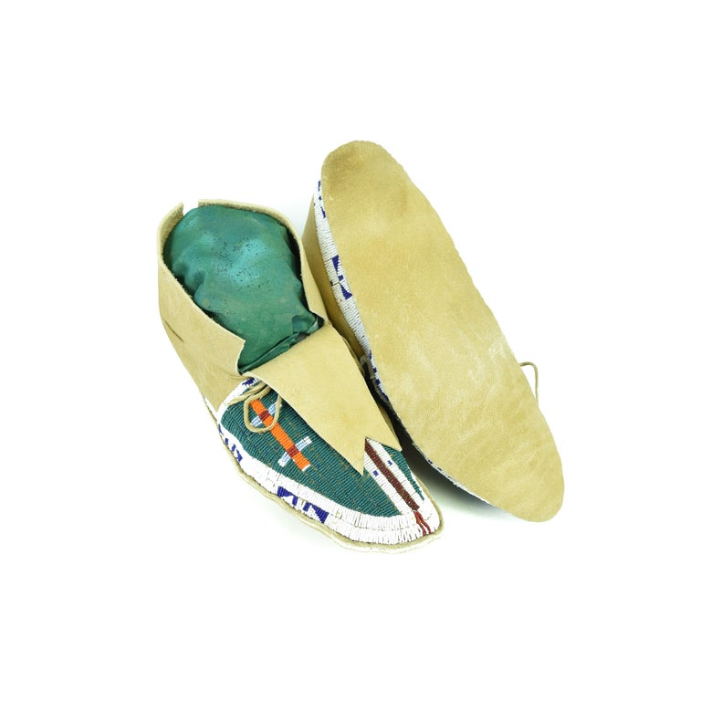 Native American Sioux Beaded Moccasins For Sale