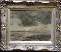 Arran Seascape - Scottish art 1915 Impressionist marine oil painting Scotland