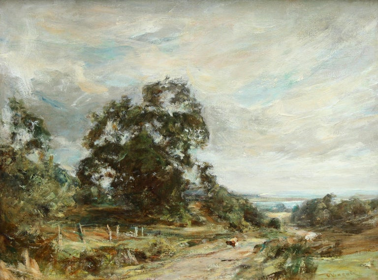 Glimpse of the Sea - Scottish art Impressionist landscape oil painting  For Sale 6