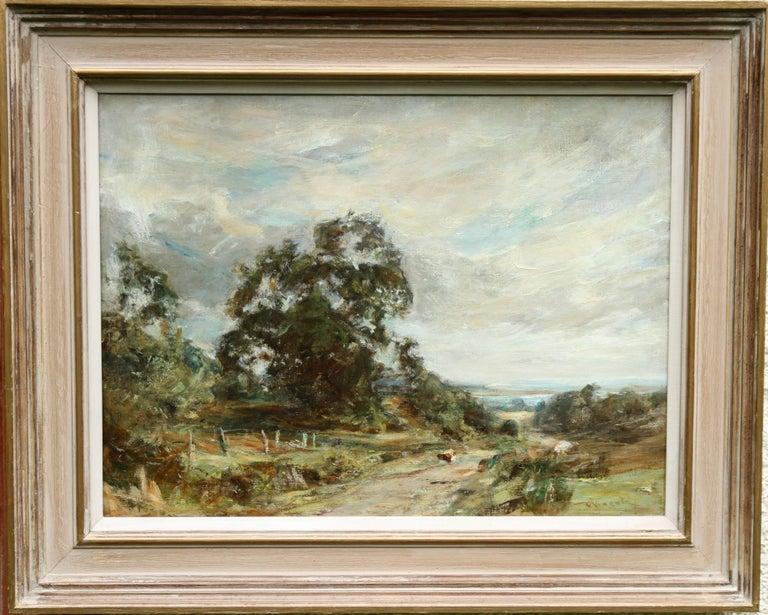 Glimpse of the Sea - Scottish art Impressionist landscape oil painting  For Sale 7