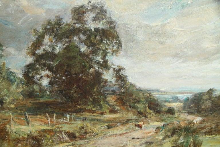 Glimpse of the Sea - Scottish art Impressionist landscape oil painting  For Sale 1