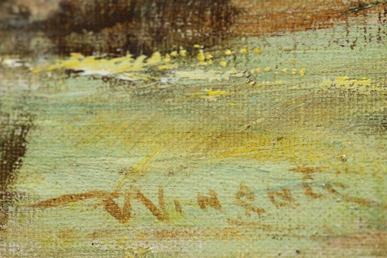 Glimpse of the Sea - Scottish art Impressionist landscape oil painting  For Sale 4