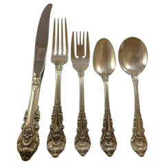 Sir Christopher by Wallace Sterling Silver Flatware Set For 18 Service 97 Pieces