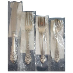 Sir Christopher by Wallace Sterling Silver Flatware Set Service 49 Pieces New