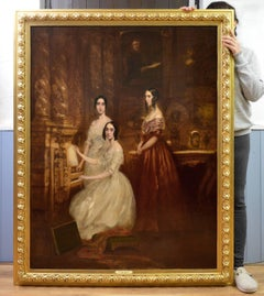 Daughters of Robert Napier - 19th Century Oil Painting Victorian Girls Portrait