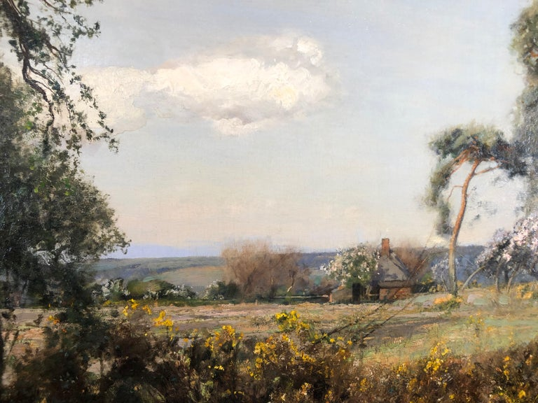 Sir David Murray was and still is a highly fashionable Scottish landscape painter, and was a leading member of the Royal Academy. His works often likened to those of Constable. This painting has an air of spring with the light greens and the