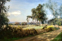Cattle In The Glade - LRural Landscape Oil On Canvas By Sir David Murray R.A.
