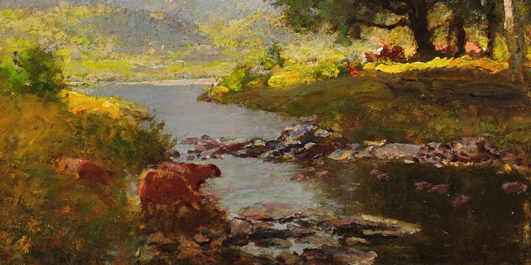 River Tay, Scotland. Sir David Murray.Original Scottish Oil Painting circa 1880s 11