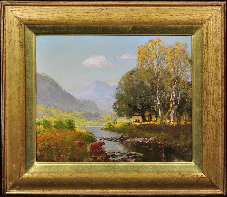 River Tay, Scotland. Sir David Murray.Original Scottish oil painting circa 1880s - Naturalistic Painting by Sir David Murray