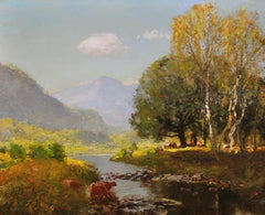 River Tay, Scotland. Sir David Murray.Original Scottish Oil Painting circa 1880s