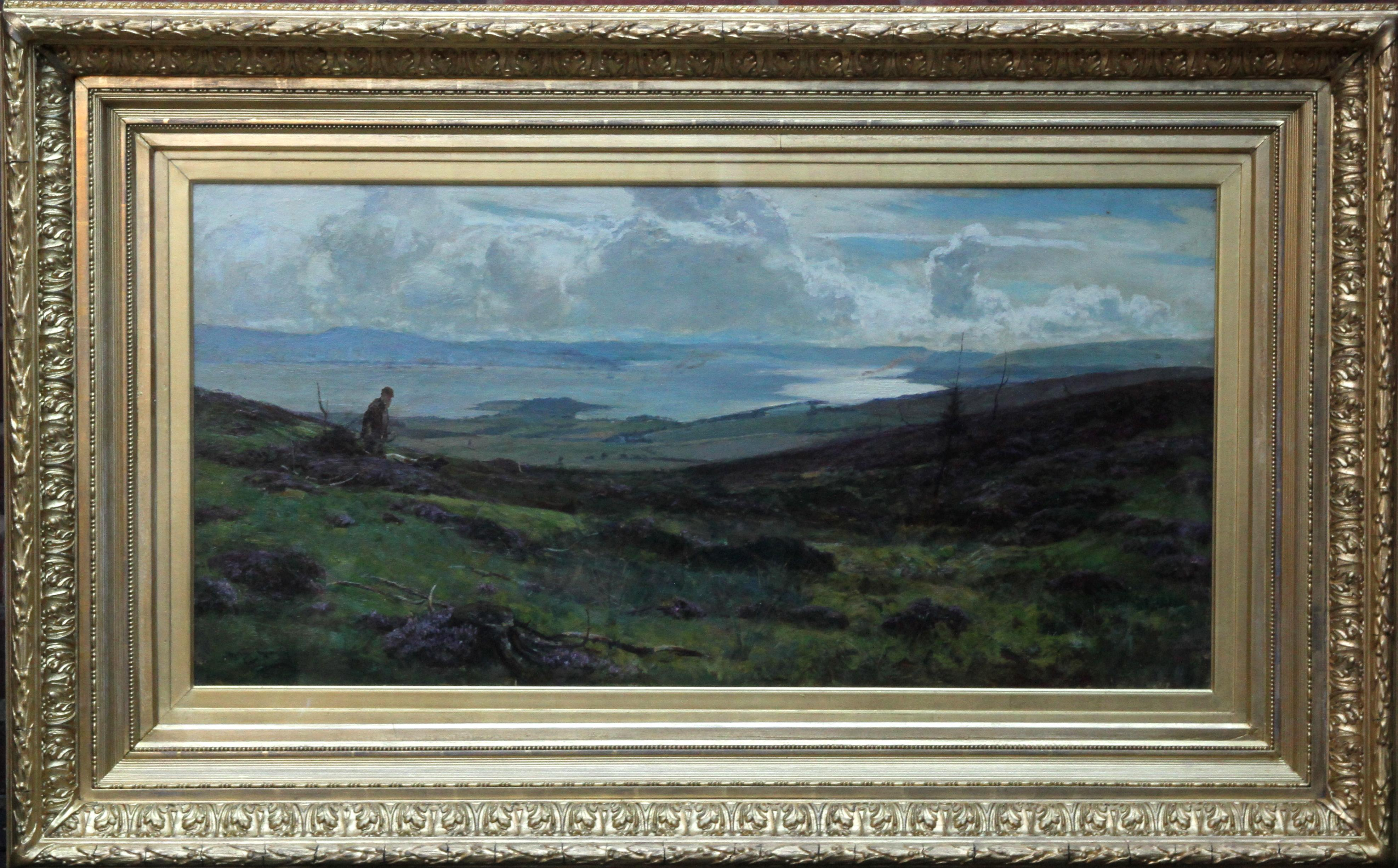 The Clyde from Darleith Moor above Cardross - Scottish art Victorian landscape