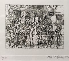 Ziegfeld Follies, etching 2/20, dated 1996 by Sir Eduardo Paolozzi