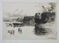 A LANCASHIRE RIVER,