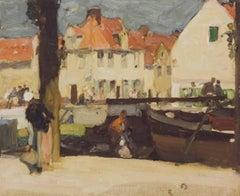 Unloading the Barges by Sir Frank Brangwyn
