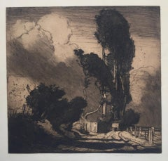 THE STORM  - Dramatic Large Etching