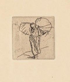 Worker - Original Etching by F. Brangwyn - Mid 20th Century