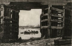 A Span of Old Battersea Bridge (an English landmark and a  favorite of Whistler)