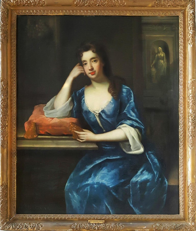 Sir Godfrey Kneller Figurative Painting - Mrs. Bagnel -