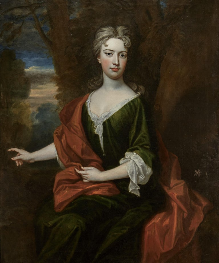 Sir Godfrey Kneller Portrait Painting - Portrait of a Lady