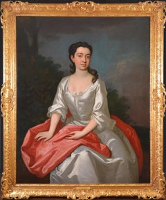 Portrait of Isabella Marshall - Very Large 18th Century Georgian Oil Painting