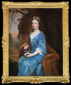 Portrait of Susannah Papillon (1661-1707) c.1695, Exquisite carved frame