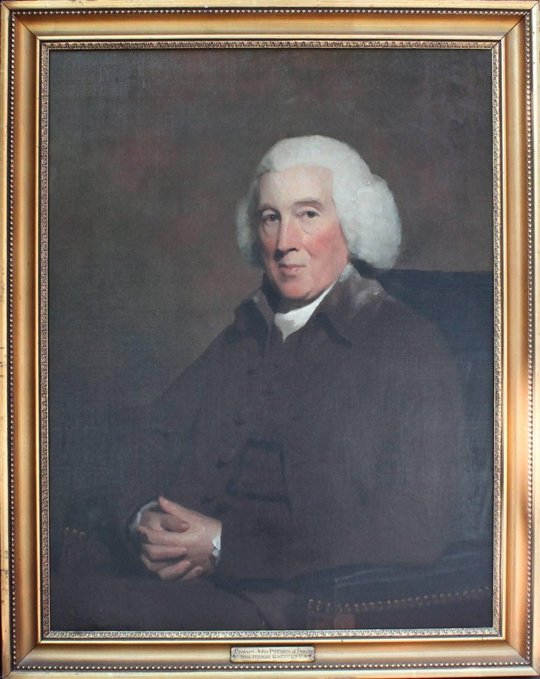 18th Century Oil Painting Portrait of Provost John Pitcairn of Dundee - Black Portrait Painting by Sir Henry Raeburn