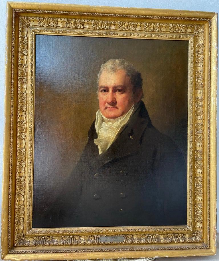 Half Length Portrait of Mr. Robertson of Edinburgh - Painting by Sir Henry Raeburn