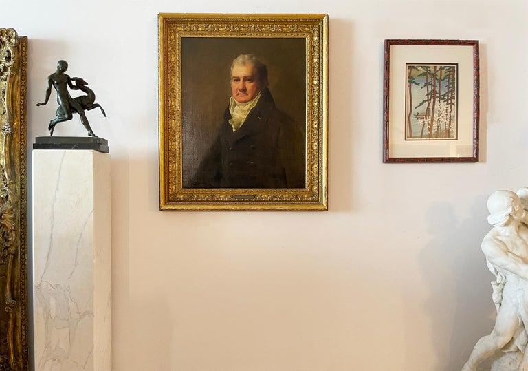 Half Length Portrait of Mr. Robertson of Edinburgh - Realist Painting by Sir Henry Raeburn