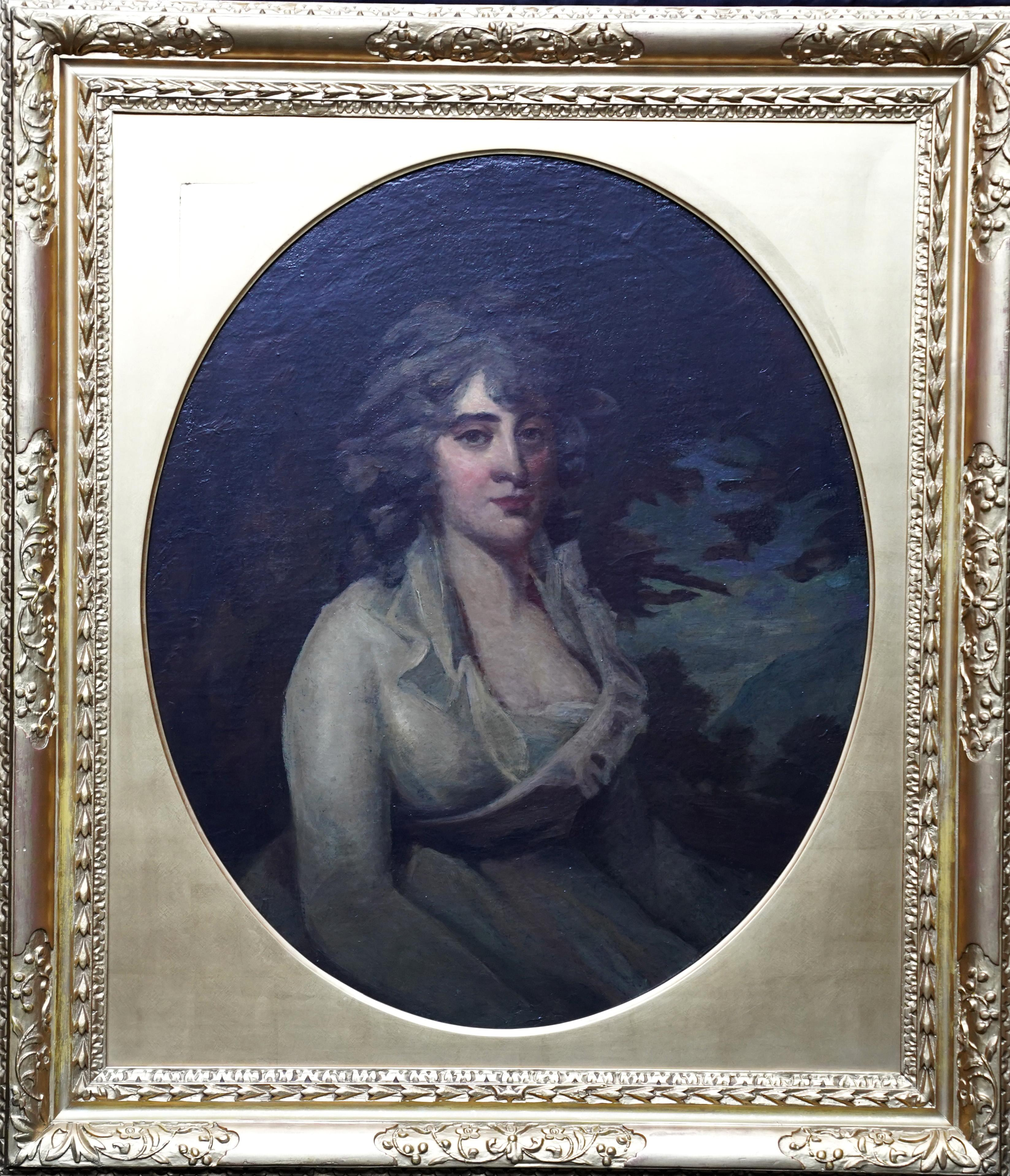 Portrait of Mrs Anne Neale Tucker Lauzun - British Old Master art oil painting