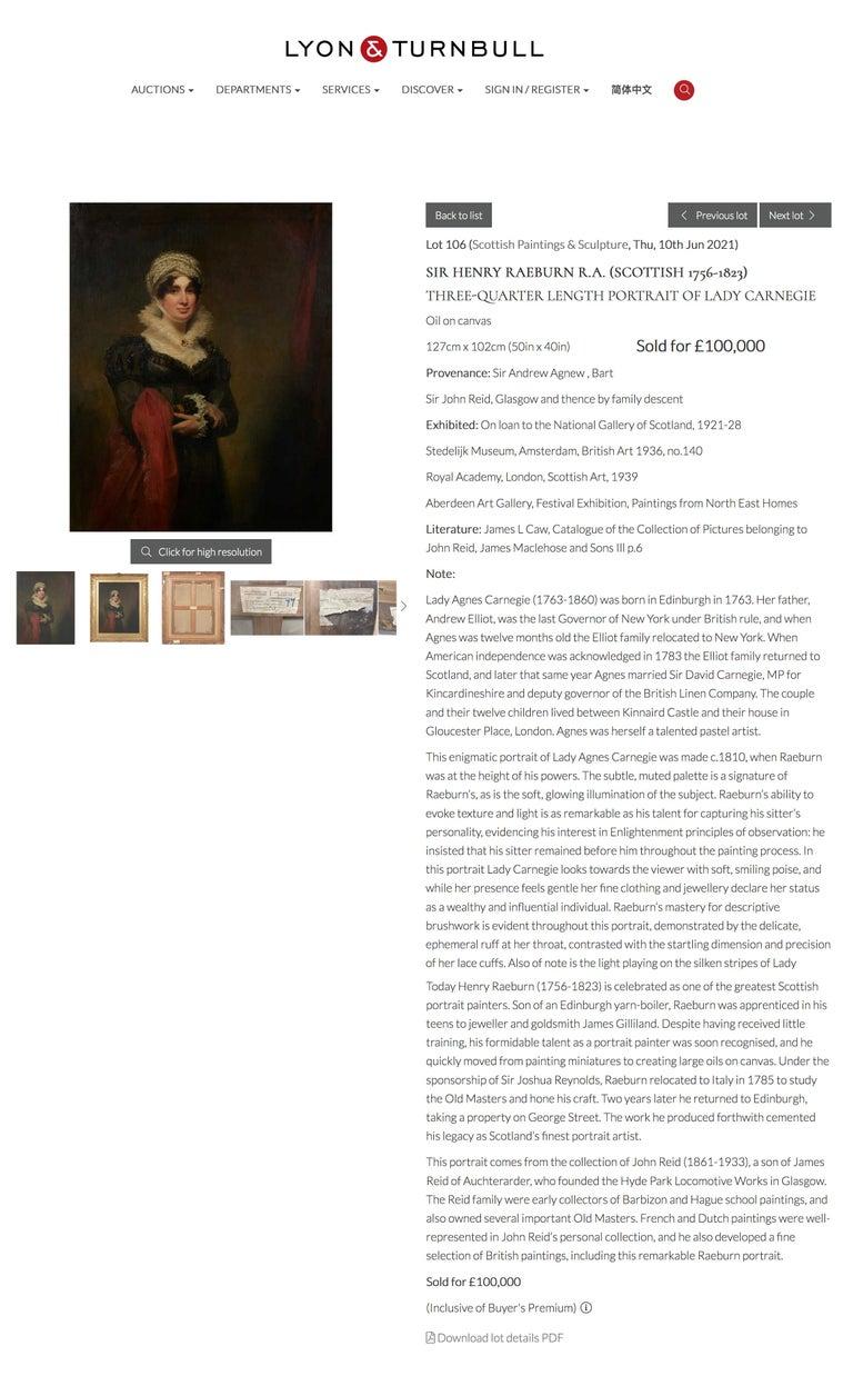 Portrait of Mrs. Johnstone For Sale 1