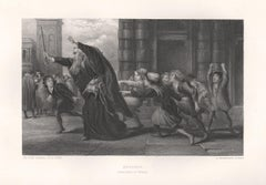 Shylock (Merchant Of Venice), William Shakespeare play engraving