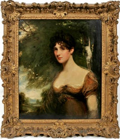 Portrait of Lady Bagot, Niece to the Duke of Wellington. British Rococo frame